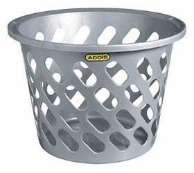 Addis - Slotted Laundry Basket - Grey