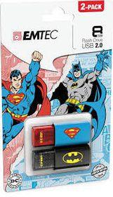 Emtec USB 2.0 C600 Superman & Batman 2D 8GB (2 Pack)