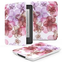 Premium Cover with Auto Wake / Sleep for Amazon Kindle Paperwhite - Floral Purple (parallel import)