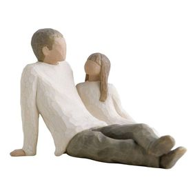 Willow Tree - Figure Father and Daughter