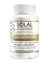 Solal Alpha Lipoic Acid 250mg - 60s