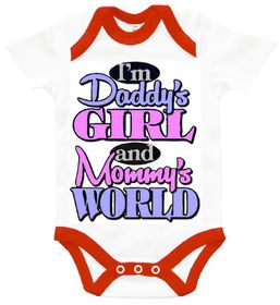 """The Funky Shop - """"I'm Daddy's girl - in mommy's world' Baby Grow"""