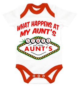 "The Funky Shop - ""What happens at my Aunts - stays at my Aunts"" Baby Grower"