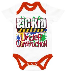 The Funky Shop - 'Big Kid under construction' Baby Grow