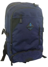 Edison Large Chunky Zip Backpack - Navy