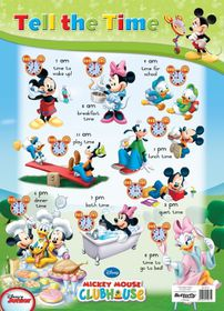 Butterfly Wallchart - Mickey Mouse Tell the Time