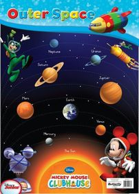 Butterfly Wallchart - Mickey Mouse Outer Space
