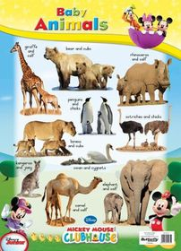 Butterfly Wallchart - Mickey Mouse Baby Animals