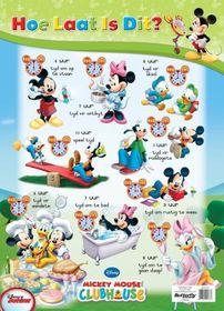 Butterfly Wallchart - Mickey Mouse Hoe Laat Is Dit?