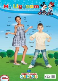 Butterfly Wallchart - Mickey Mouse My Liggaam