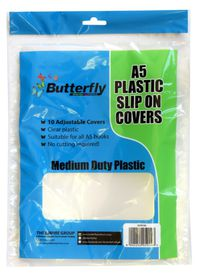Butterfly A5 Plastic Slip On Clear Covers - 10s