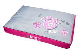 Rogz - 83cm x 56cm x 10cm Dog Bed - Pink Paw