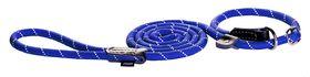 Rogz - Rope Medium 0.9cm 1.8m Long Moxon Dog Rope Lead - Blue Reflective