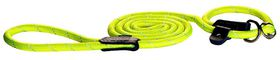 Rogz - Rope Medium 0.9cm 1.8m Long Moxon Dog Rope Lead - Dayglo Yellow Reflective