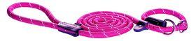 Rogz - 9mm 1.8m Long Moxon Rope Lead - Pink