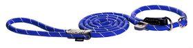 Rogz - Rope Large 1.2cm 1.8m Long Moxon Dog Rope Lead - Blue Reflective