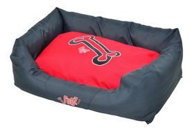 Rogz - Spice Podz Dog Bed - Medium - Red Rogz Bones Design