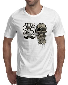 StoneDeff - Fear the beard Men's Short Sleeve T-Shirt - White
