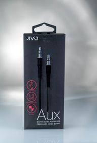 JIVO Auxillary Cable 3,5mm Jack to Jack - Black