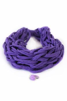 Vine Accessories Snood with Matching Earrings - Purple & Purple