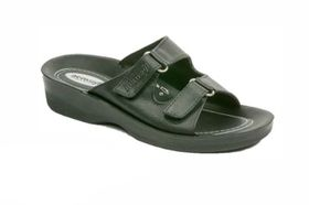 Comfort Couture A2836 Side Buckle Sandal - Black