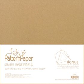 Lady Pattern Paper Kraft Essentials Plain Cardstock - Pack of 20