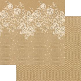 Lady Pattern Paper Kraft Essentials - Lucy Lace - Opaque White (10 Sheets)