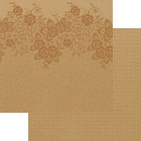 Lady Pattern Paper Kraft Essentials - Lucy Lace - Metallic Copper (10 Sheets)