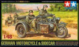 Tamiya German Motorcycle And Sidecar