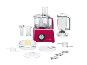 Bosch - Styline Food Processor - Red and Silver