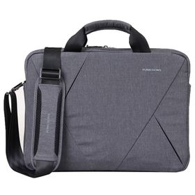 "Kingsons 14.1"" Sliced Grey Messenger Bag"