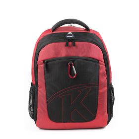 """Kingsons 15.4"""" Laptop Backpack With Key Chain - Red"""