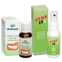 Stop-It Therapy Spray & Medosan Teeth Whitening Dental Drops Value Pack