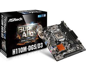 ASRock H110M DGS/DS mATX Motherboard - Socket 1151