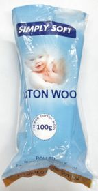 Simply Soft Organic Cotton Wool Roll - 100g