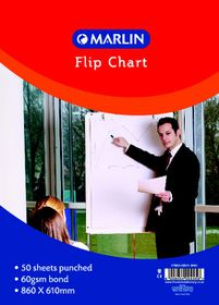 Marlin Flip Chart Paper - Bond 50 Sheets