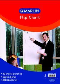 Marlin Flip Chart Paper - Bond 30 Sheets