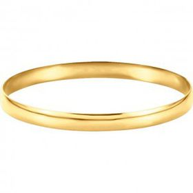 Miss Jewels- 12mm Gold Plated Stainless Steel Bangle
