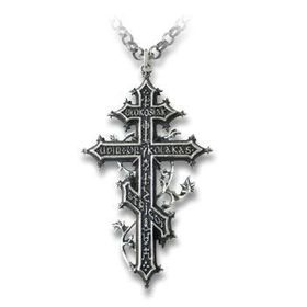 Balkan Reverant's Cross Pendant with Necklace
