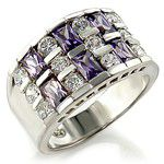 Miss Jewels- Purple and Clear Cubic Zirconia Dress Ring
