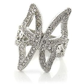 Miss Jewels- Rhinestone Crystal Butterfly Cocktail Ring