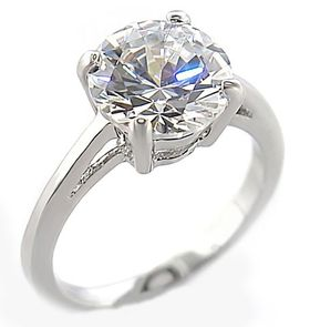 Miss Jewels- 3.50ct Cubic Zirconia Costume Engagement Style Ring