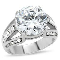 Miss Jewels- 6.62ctw Cubic Zirconia Bulky Stainless Steel Dress Ring
