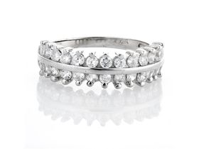 Miss Jewels- 0.39ctw Cubic Zirconia Wedding Band in 925 Sterling Silver
