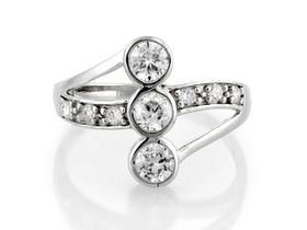 Miss Jewels- 0.84ctw Cubic Zirconia Cocktail Ring in 925 Sterling Silver