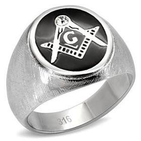 Free Mason Brush Finish Stainless Steel Ring