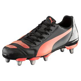 Men's Puma Evo Power 4.2 Rugby Boots H8 - Black/Lava