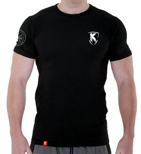 Performance Muscle Fit Printed T-Shirt - Black & White
