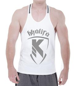 Paneled Stringer Vest - White & Charcoal