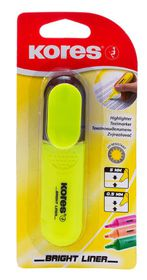 Kores Bright Liner Chisel Tip Highlighter - Yellow